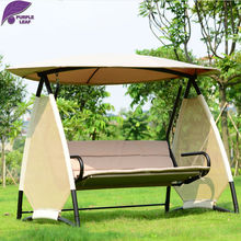 PurpleLeaf patio garden swing special maple leaves shape style hanging chair outdoor furniture  with cushion