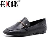 FEDONAS Womens Shoes Genuine Leather Flat Shoes Fashion Hand Make Leather Loafers Female Retro Shoes Woman