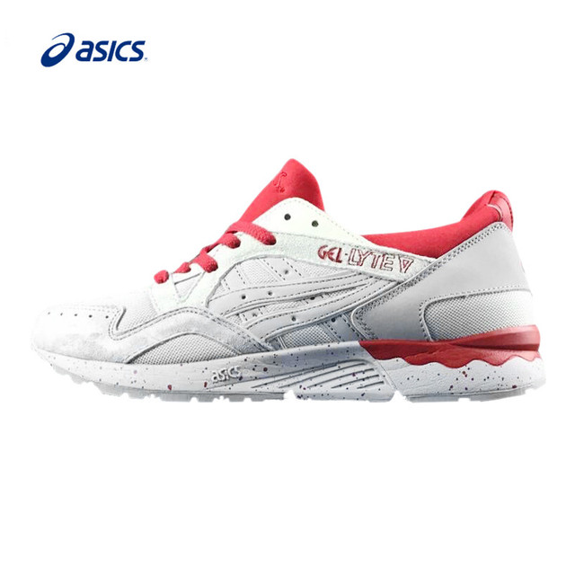 Asics Gel-Lyte V Men s Stability Running Shoes Breathable White And Red  Sports Shoes Sneakers For Women 7783371d9a8