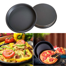 5pcs Pizza plate 8 inch Round Pizza Pan Tray carbon steel non-stick Mold Baking Tool Baking Mould Pan Pattern 2019 Hot Sale