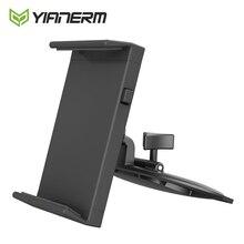 Yianerm CD Slot Tablet uchwyt samochodowy do telefonu iPhone, dla iPad mini, powietrza 1/2, 9.7 Pro wsparcia, tabletu z systemem Android, 7 10.1 do montażu na stojaku