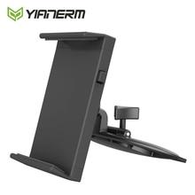 Yianerm soporte de teléfono de coche para tableta con ranura de CD para iPhone, para iPad mini,Air 1/2, soporte 9,7 Pro, tableta Android, soporte de montaje de 7 10,1