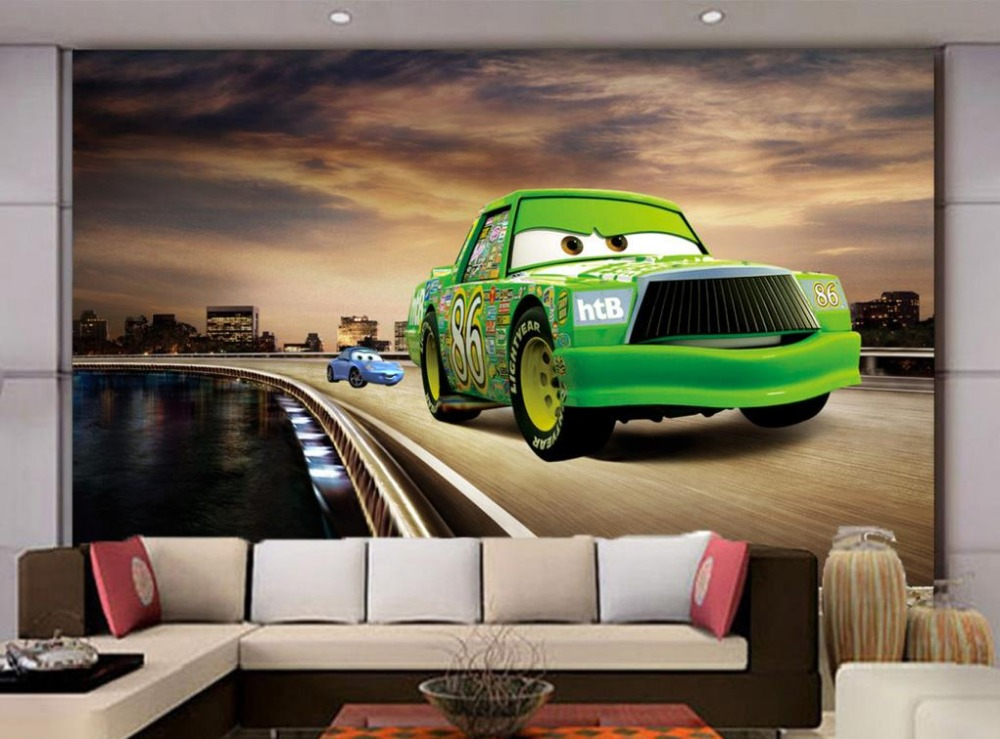 wallpapers for living room cars animation 3d wall murals wallpaper for kids room home decoration