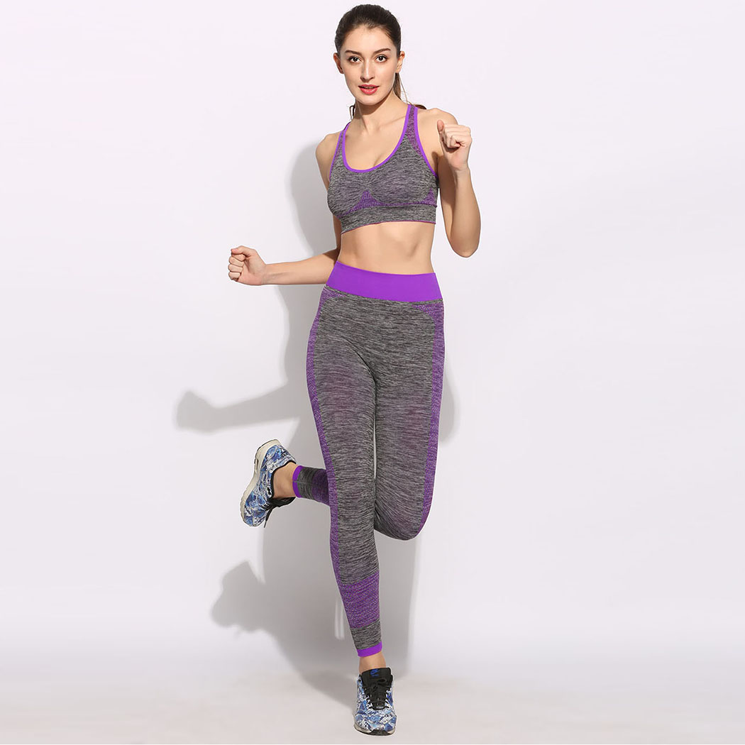 9487c8779d brand 2017 New Women Running Sets No Underwire Sports Vests Bra Exercise  Fitness Pants Female Yoga Sport Suit Jogging Femme-in Running Sets from  Sports ...