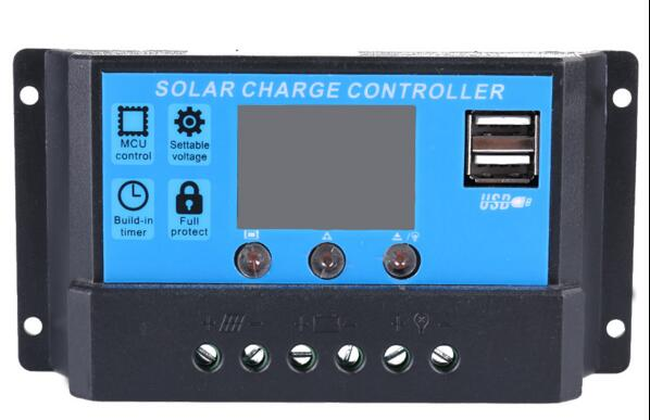10A 12V/24V LCD Solar Charge Controller with Auto