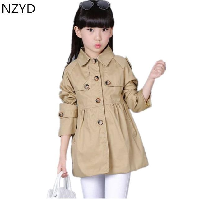 414d1e4294aca 2016 New Fashion Spring Autumn Girls Coat Children Long Sleeve Dust Coat  Korean Leisure Sweet Kids Clothes DC085