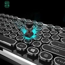 DIY key cap Retro steam punk typewriter mechanical font b keyboard b font keycap 104 87