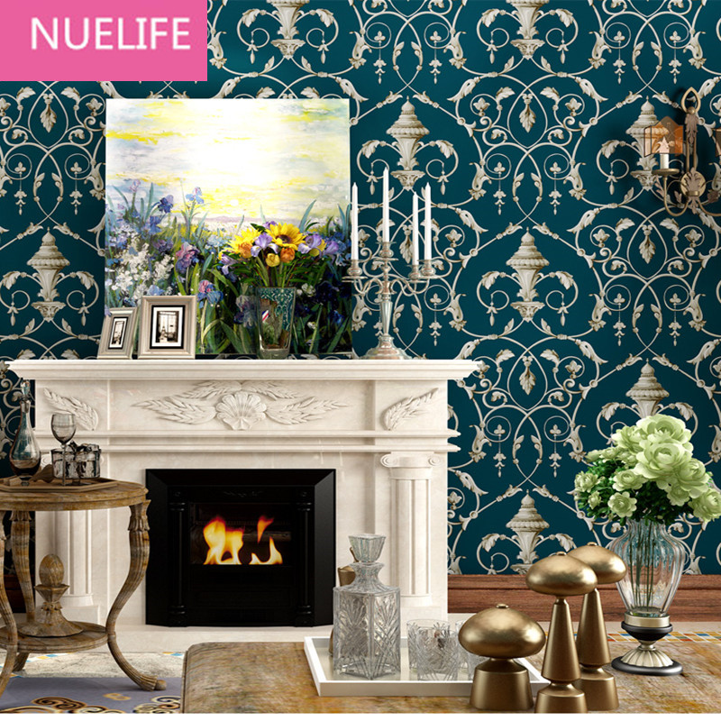 0.53x10m Retro nostalgia full of flowers pattern non - woven wallpaper shop TV background wall bedroom living room wallpaper0.53x10m Retro nostalgia full of flowers pattern non - woven wallpaper shop TV background wall bedroom living room wallpaper