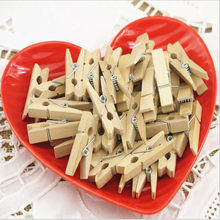 20PC Handmade Decorative Photo Clip Wood Mini Clip Art Photo DIY Wooden Clip(China)
