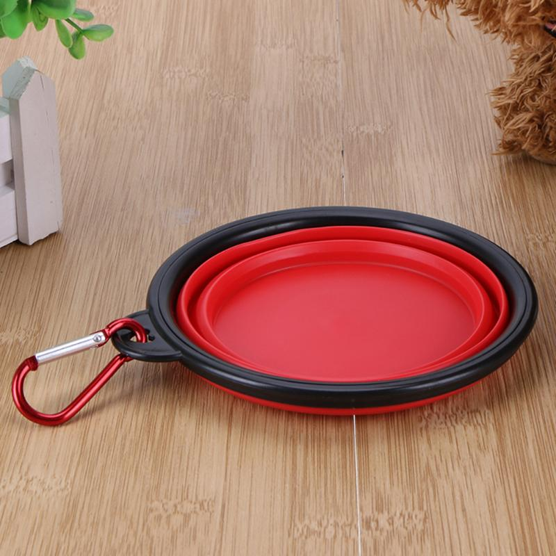 Bowls For Dog Folding Collapsible Feeding Bowl Silicone Water Dish Cat Portable Feeder Puppy Pet Travel Bowls #5