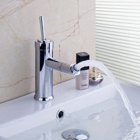 Ouboni Kitchen Faucets Torneira Cozinha New Design Swivel 360 Spray 97070 Chrome Brass Water Tap Sink