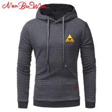 hot deal buy plaid hooded sweatshirt the legend of zelda solid color plaid hoodies male long sleeve loose hoodie casual sportswear