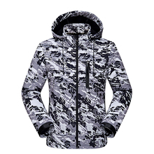 Softshell Jackets Men and Women Camouflage Warm Plus Cashmere Climbing Suit Couple Spring and Autumn Thin Jacket Jaquetas