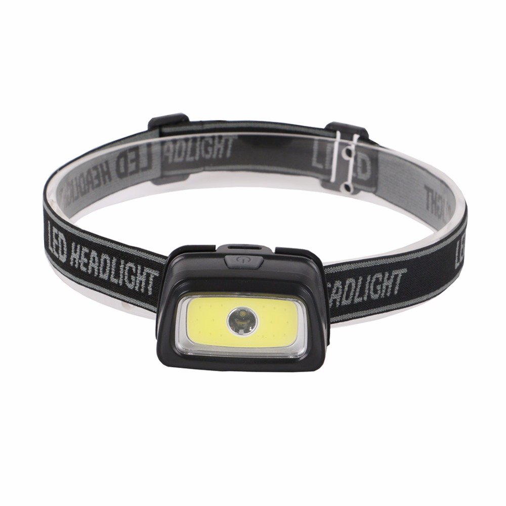 4 Colors 2LEDs Waterproof Mini Headlight Headlamp COB+LED 3-Mode Light-weight Mini Head Lamp Torch Lantern For Camping Cycling