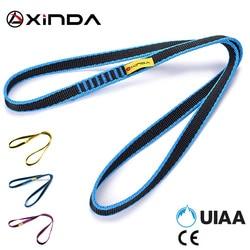 Xinda escalada profissional ao ar livre escalada sling cinto longo 60cm 150cm largura 16mm grosso 2.8mm de alta resistência correias