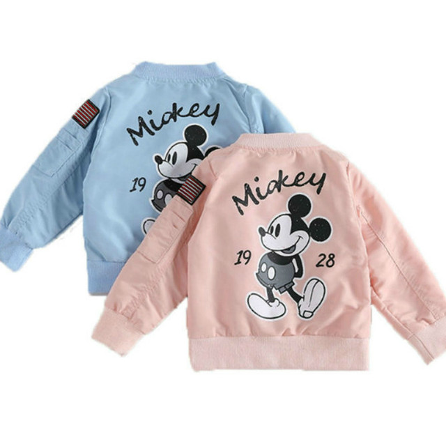 2018 Spring And Summer New Boys And Girls Wear Children's Cardigan Zipper Fashion Cartoon Letter Jacket Windbreaker Long Sleeved