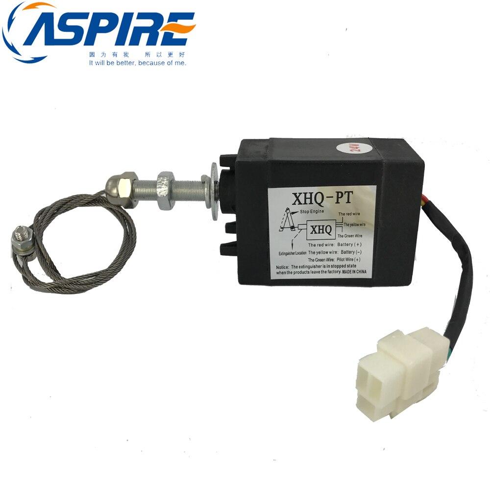 24 v diesel pecas de motor gerador desligar valvula parar solenoide xhq pt feito em china