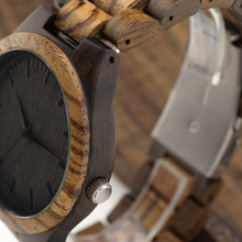 Men's Zabra Style Wooden Watches