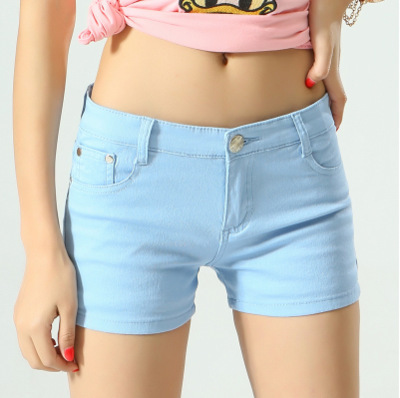 Women's Shorts Denim Shorts Cotton Candy Color Short Jeans For Women Mid Waist Black White Sexy Short Feminino Hot Sale