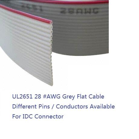 0.5mm Espaciado 40 Terminales FPC FFC Flexible Plano Cable Alambre 40cm 2 piezas