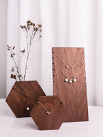 New Fashion Black Walnut Wood Necklace Chain Pendant Display Holder Jewelry Display Stand Ring Display Holder