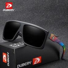 DUBERY бренд Дизайн поляризованные HD солнцезащитные очки Для мужчин Вождение оттенки мужской ретро солнцезащитные очки для Для мужчин лето зеркало площадь Óculos UV400