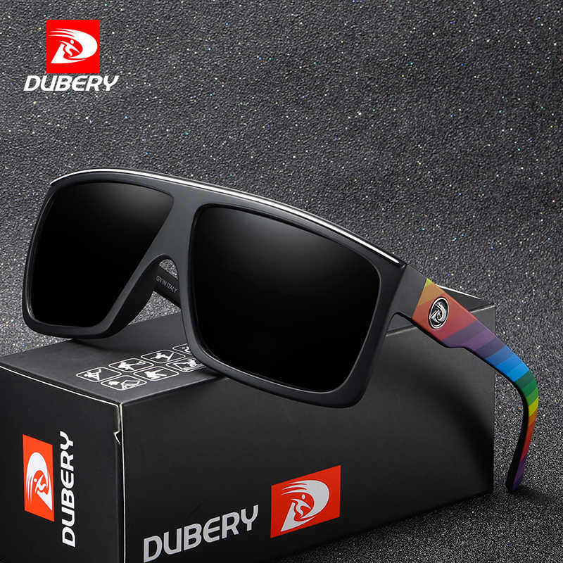 155ba57262 DUBERY Marca Diseño HD polarizado gafas de sol hombres conducción sombras hombre  Retro gafas de sol