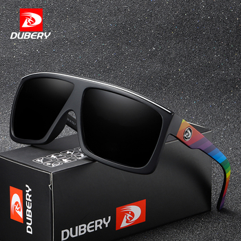 DUBERY Brand Design Gepolariseerde Zonnebril Men Driving Shades Mannelijke Retro Zonnebril Voor Mannen Zomer Spiegel Vierkante Oculos UV400