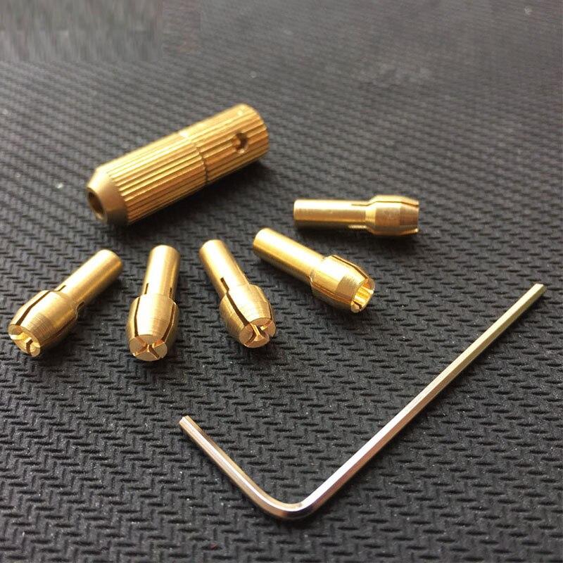 0.5-3mm Copper Small Electric Drill Bit Collet Micro Twist Drill Chuck Set 3.17