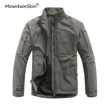 Mountainskin Для мужчин весна осенние куртки Softshell пальто военные куртки верхняя одежда из флиса Стенд воротник Для мужчин бренд пальто LA615