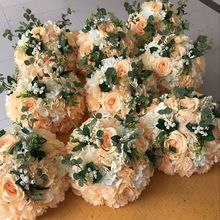 30 CM Yapay Gül Ortanca Öpüşme Topu Düğün Yol Alıntı Çiçek Roma Sütun Kurşun Buket T istasyonu Dekorasyon 18 renk