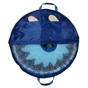 Image 1 - חיל הים כחול מקצועי בלט טוטו תיק ורוד עמיד למים בד גמיש ומתקפל רך בלט תיק פנקייק טוטו שמיים כחול
