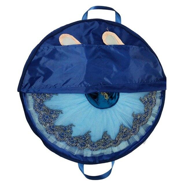 Azul marino profesional Ballet tutú bolsa Rosa impermeable lona Flexible y plegable suave Ballet bolsa panqueque tutú azul cielo