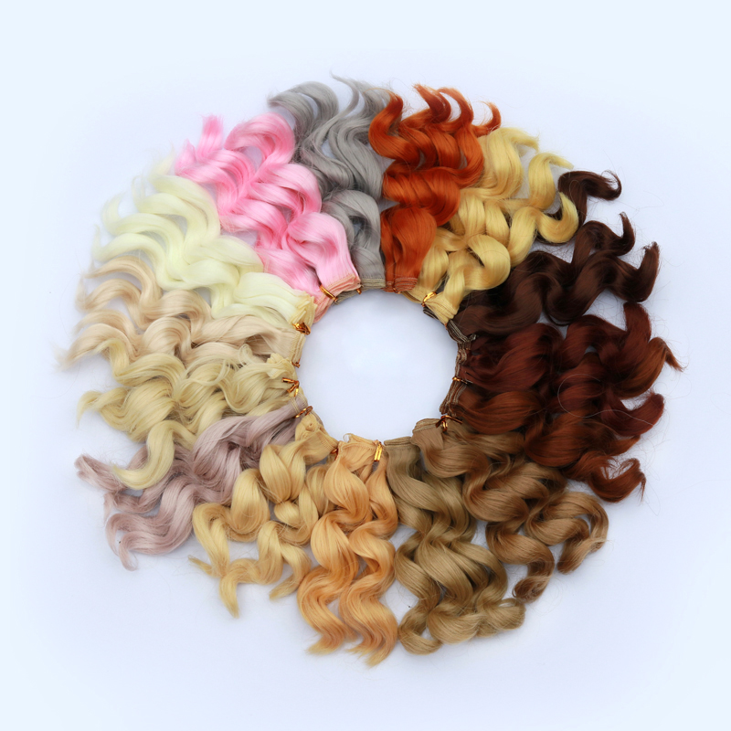 Msiredoll Bjd Wig Accessories 1piece 15*100CM Doll Hair For 1/3 1/4 1/6 1/12 Natural Color  Hair Bjd Wig Diy Free Shipping