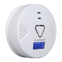Floureon Carbon Monoxide Alarm CO Detector With Human Voice LED Warning Digital Display Battery Operated Gas