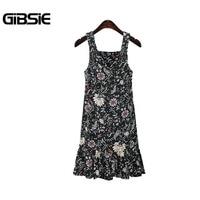 Gibsie 5xl 4xl xxxl cộng với kích thước xe tăng dresses women của quần áo mùa hè thường không tay floral dress phụ nữ big kích thước ngà, đen