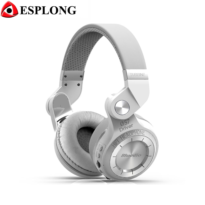 ФОТО Bluedio T2+ Foldable Bluetooth Headphones BT 4.1 Stereo Earphone Support FM Radio/SD card Wireless Handsfree Headset For Calls