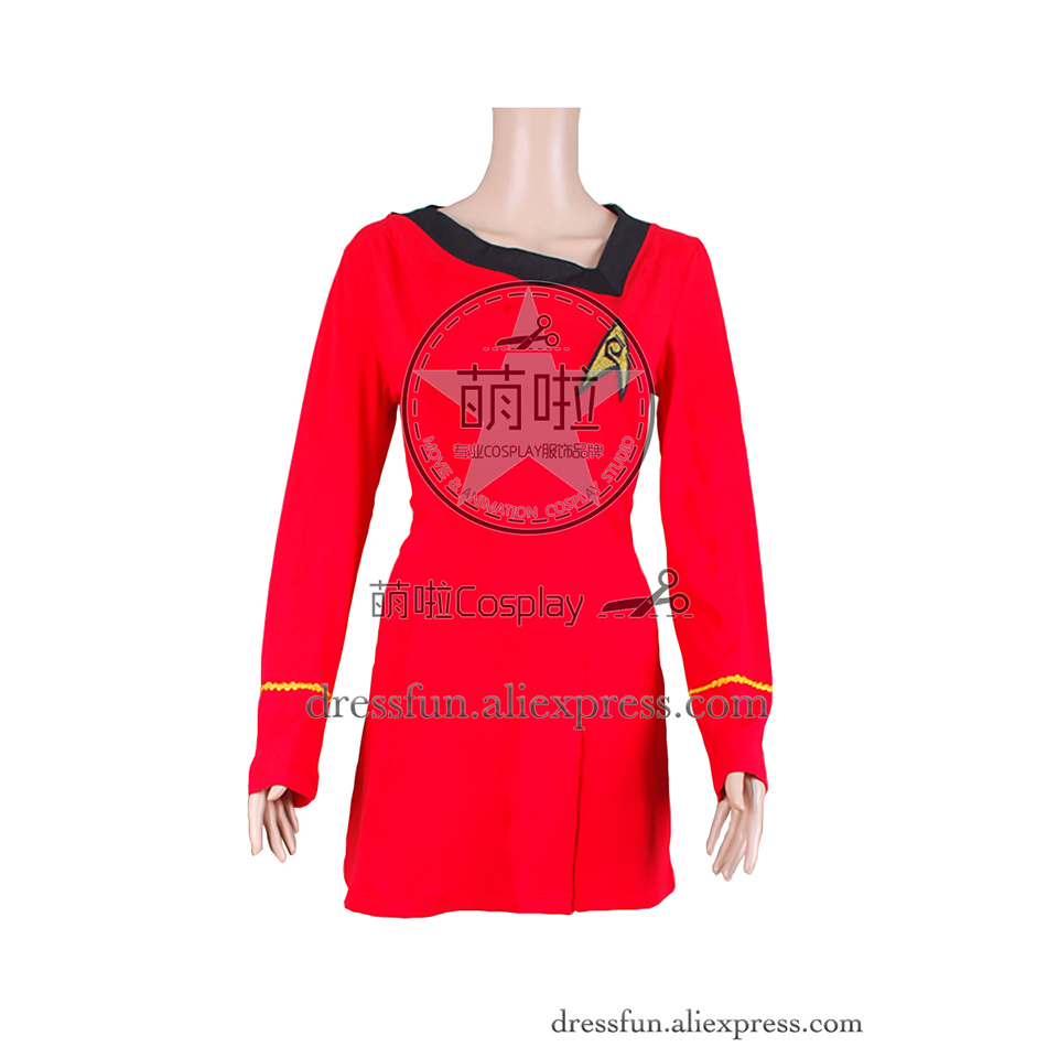 Star Trek TOS The Original Series Cosplay The Female Duty Uniform Red Dress Suit Outfits Halloween Fashion Party Fast Shipping