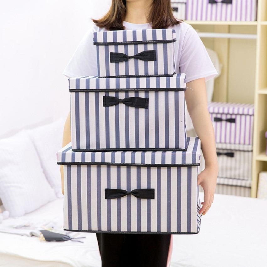 New Non Woven Fabric Folding Underwear Storage Box Bedroom: New Folding Non Woven Fabric Clothing Storage Box