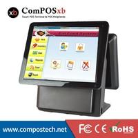 Применены к супермаркет Розничная кассир Доступное 15 двойной Экран Мониторы все в одном POS Системы pos1618d