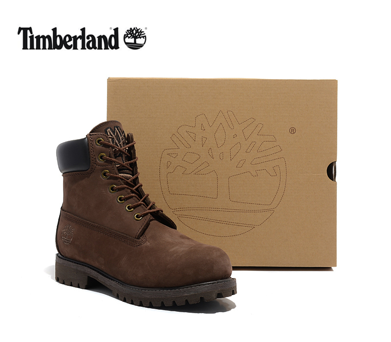 TIMBERLAND Classic Men Embroidery 1973 Premium High Quality Ankle Boots,Man Genuine Leather Outdoor Dark Brown 10061 Shoes