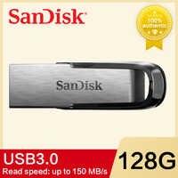Clé USB SanDisk 16GB 32GB 64GB 128G 256G CZ73 150 mo/s clé USB 3,0 ULTRA FLAIR mémoire stylo lecteurs disco Flash U disco
