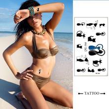HC183-Taty Design Flash Tattoo Removable Waterproof Gold Tattoo Metallic Temporary Tattoo Stickers Temporary Body Art Tatoo