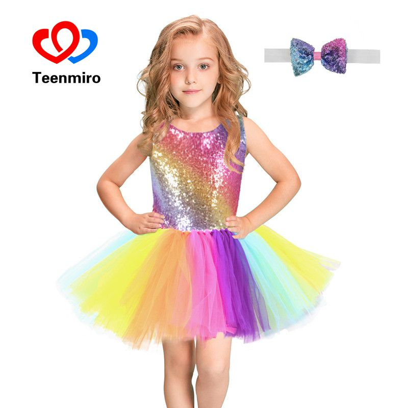 Sequins Baby Girls Tutu Dress Vest Striped Rainbow Princess Costume for Kids Halloween Christmas Prom Dresses Backless ClothesSequins Baby Girls Tutu Dress Vest Striped Rainbow Princess Costume for Kids Halloween Christmas Prom Dresses Backless Clothes