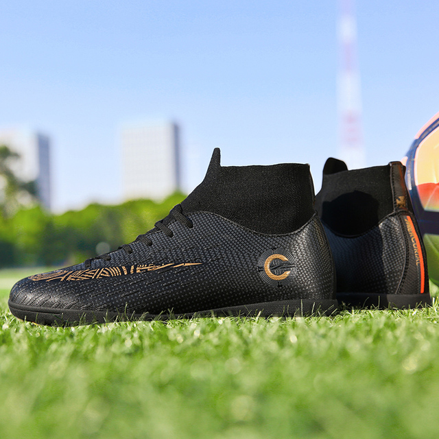 75ab70c0c Men Soccer Boots Indoor Futsal Sneakers Men Cheap Soccer Cleats Superfly  Original Sock Football Shoes with Ankle Boots High Hall
