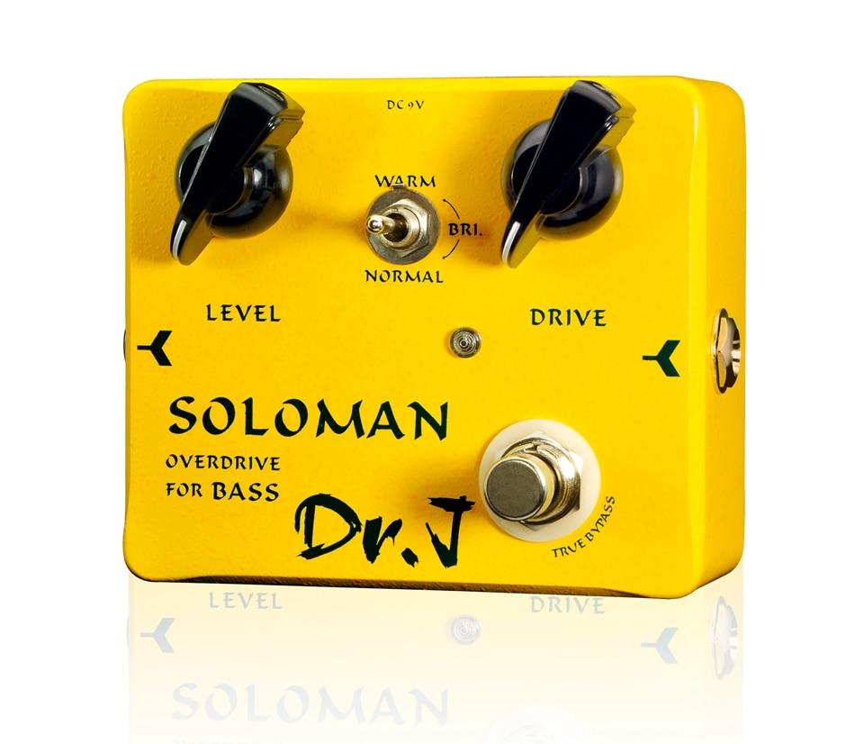 Dr. J Soloman Bass Overdrive Effect Pedal Hand Made Electric Bass Effect Pedal Overdrive efeito True Bypass D-52 wacken metal overdrive
