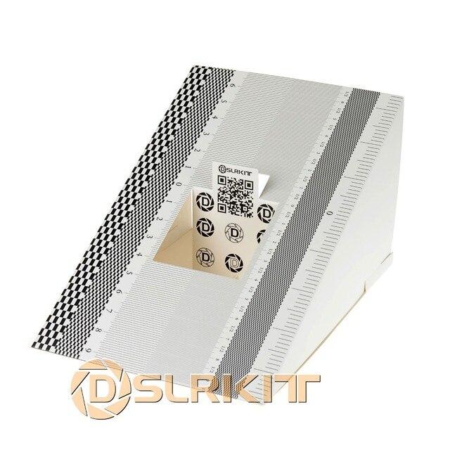 Herramienta de concentración de lentes de tarjeta plegable, alineación de calibración AF, Micro Tabla de reglas de ajuste