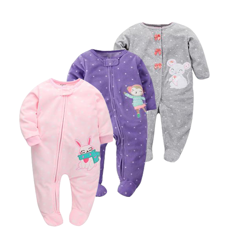 Christmas Girls Baby Clothes Rompers fleece Unisex Kids Long Sleeve Rompers Newborn Clothes Animal Jumpsuit Autumn