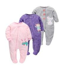 Рождественская Одежда для маленьких девочек Комбинезон, флис унисекс детская одежда с длинными рукавами комбинезон Одежда для новорожденных животных комбинезон осень пижамы для мальчиков