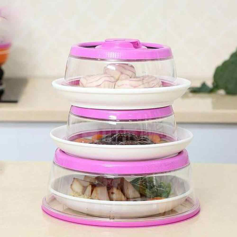 Vacuum Air-tight Food Sealer Wraps Silicone Storage Container Lids Dome Cover